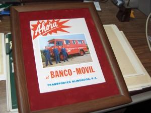 Cuadro del Camion Blindado Banco Movil.