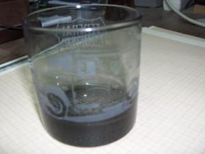 Vaso de cristal grabado.