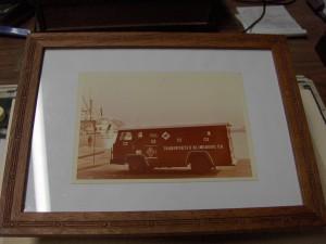 Uno de los primeros furgones de TRANSPORTES BLINDADOS S.A.
