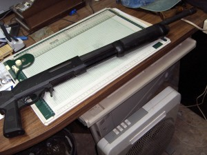 Escopeta valpro 12/70, dotacion del Blindado.